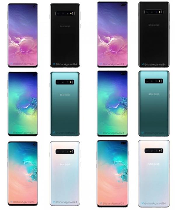Samsung Galaxy S10 and S10 Plus 1 - ابعاد دقیق خانواده گلکسی اس ۱۰ مشخص شد