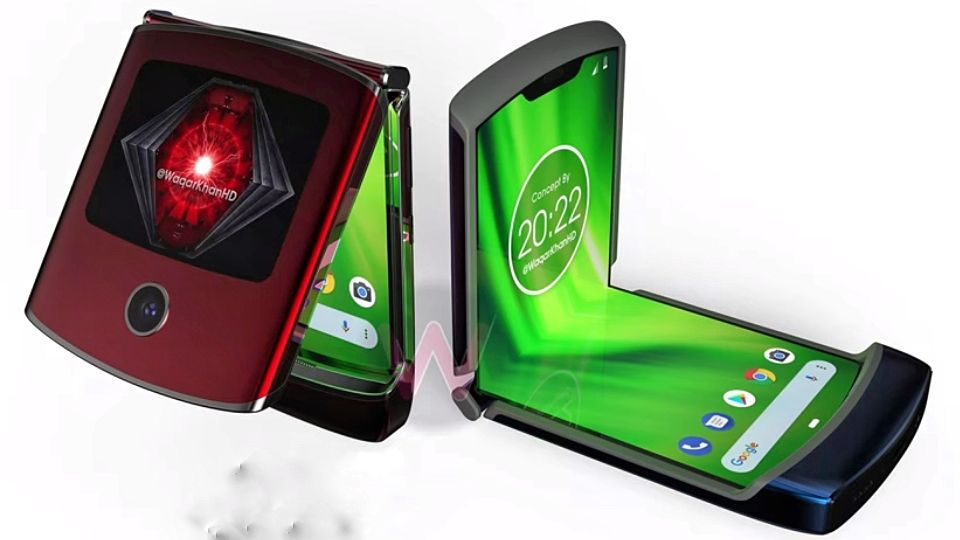 طرح مفهومی موبایل تاشو موتورولا ریزر وی ۴ (Razr V4)