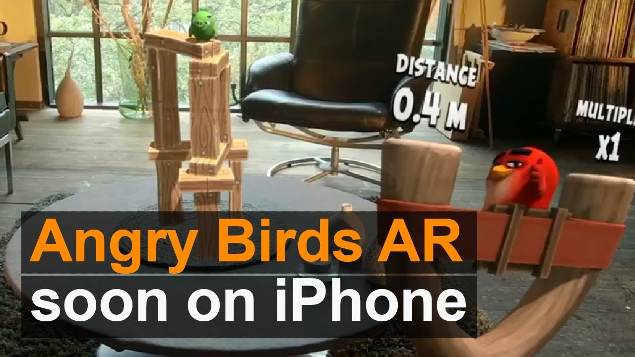 انگری بردز واقعیت افزوده (Angry Birds AR)