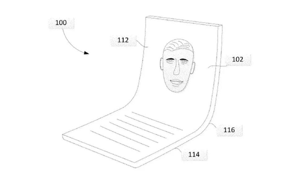 """پتنت های گوگل را برای گوشی تاشو که به آن """"دستگاه پردازشی مدرن"""" می گوید را ببینید"""