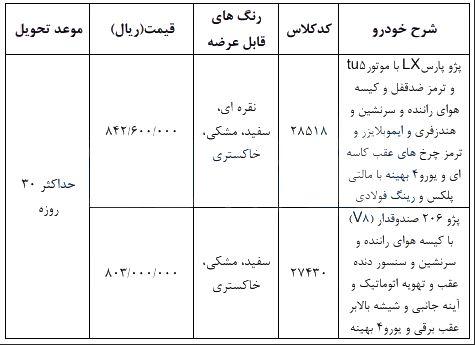 فروش فوری ایران خودرو ۱۲ اسفند