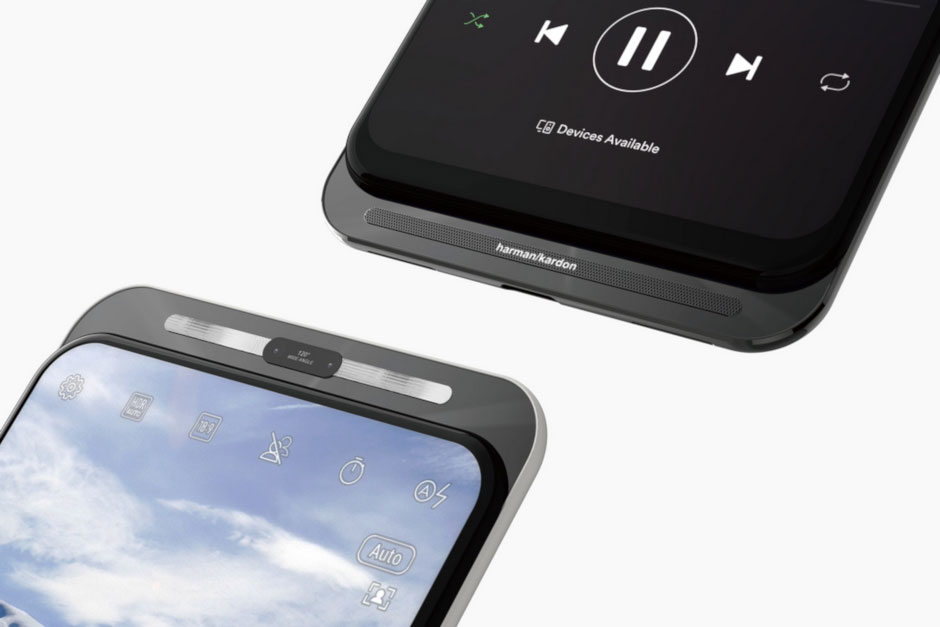 رندر موبایل عجیب ایسوس با مکانیسم کشویی و بدون بریدگی نمایشگر