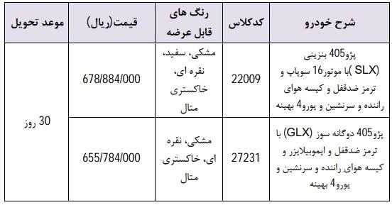 شرایط فروش فوری ایران خودرو ۷ اردیبهشت ۹۸