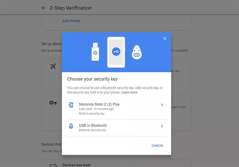 استفاده از گوشی اندرویدی به عنوان کلید امنیتی فیزیکی برای احرازهویت دو عاملی استفاده خواهد شد