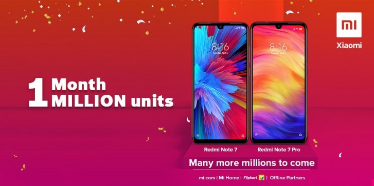 ردمی نوت ۷ و ردمی نوت ۷ پرو در ماه اول در هند ۱ میلیون دستگاه فروش داشته اند