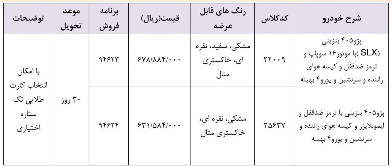 شرایط فروش فوری ایران خودرو چهارشنبه ۲۵ اردیبهشت ۹۸