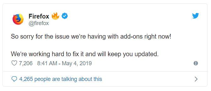 غیر فعال شدن اکستنشن فایرفاکس