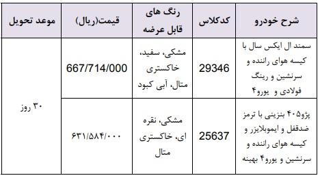 شرایط فروش فوری ایران خودرو ۱۴ اردیبهشت ۹۸