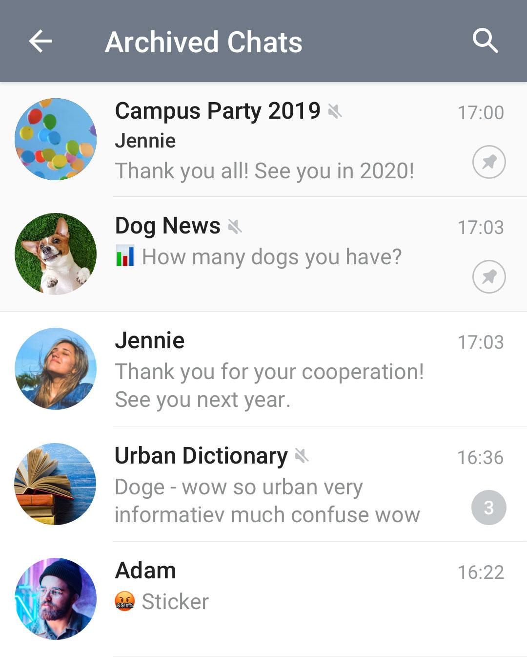 Telegram Update - آپدیت تلگرام ۵.۶ با قابلیت آرشیو پیام ها ارایه شد