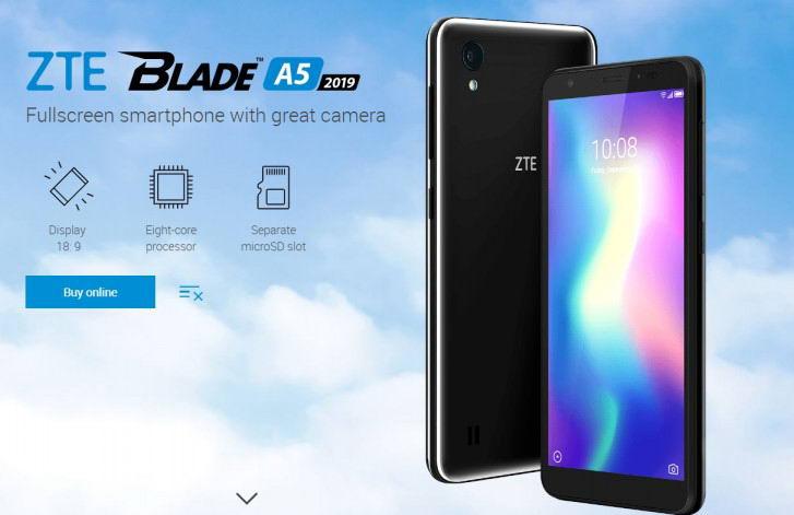گوشی زد تی ای Blade A5 2019 با قیمت ۱۰۰ دلار و چیپست Unisoc معرفی شد