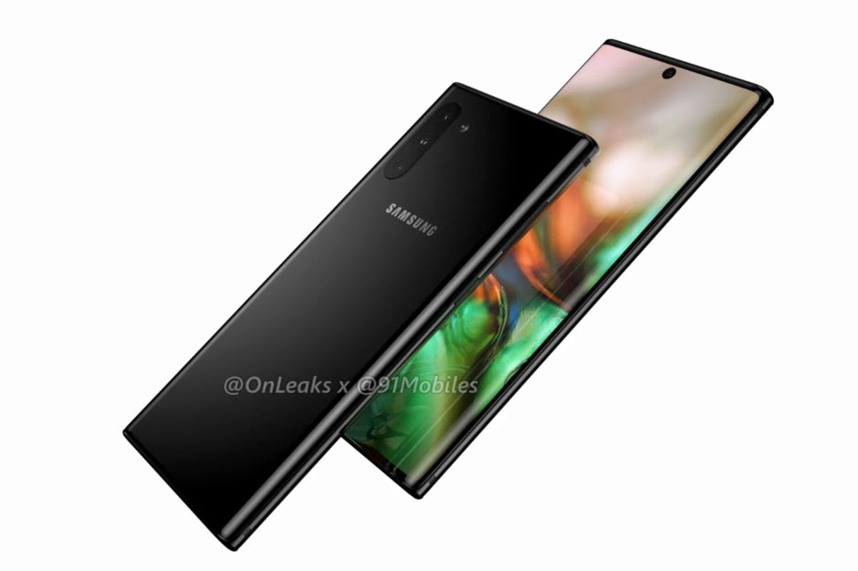 Samsung Galaxy Note 10 renders 1 - سامسونگ گلکسی نوت ۱۰ (Galaxy Note 10) را ببینید