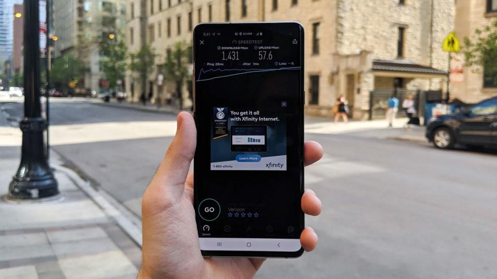 سرعت شبکه 5G در خیابان