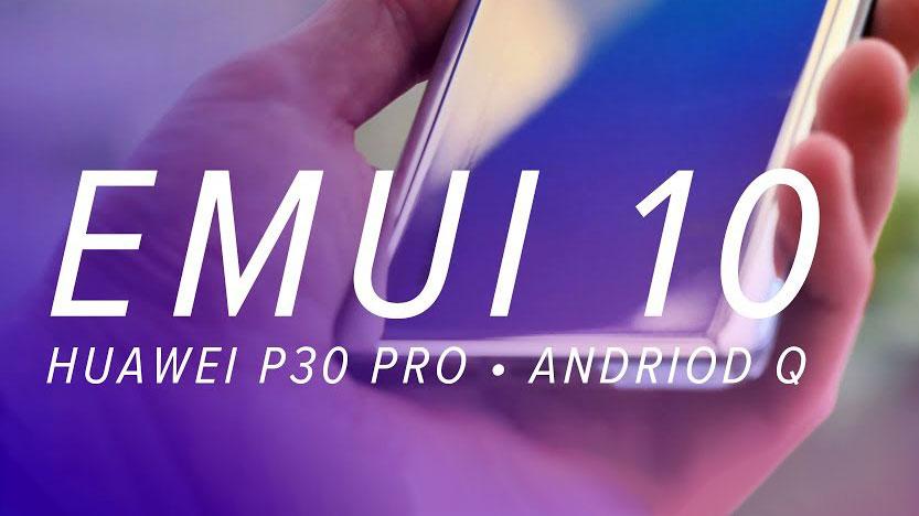 اسکرین شات آپدیت اندروید ۱۰ هواوی با رابط کاربری EMUI 10 لو رفت