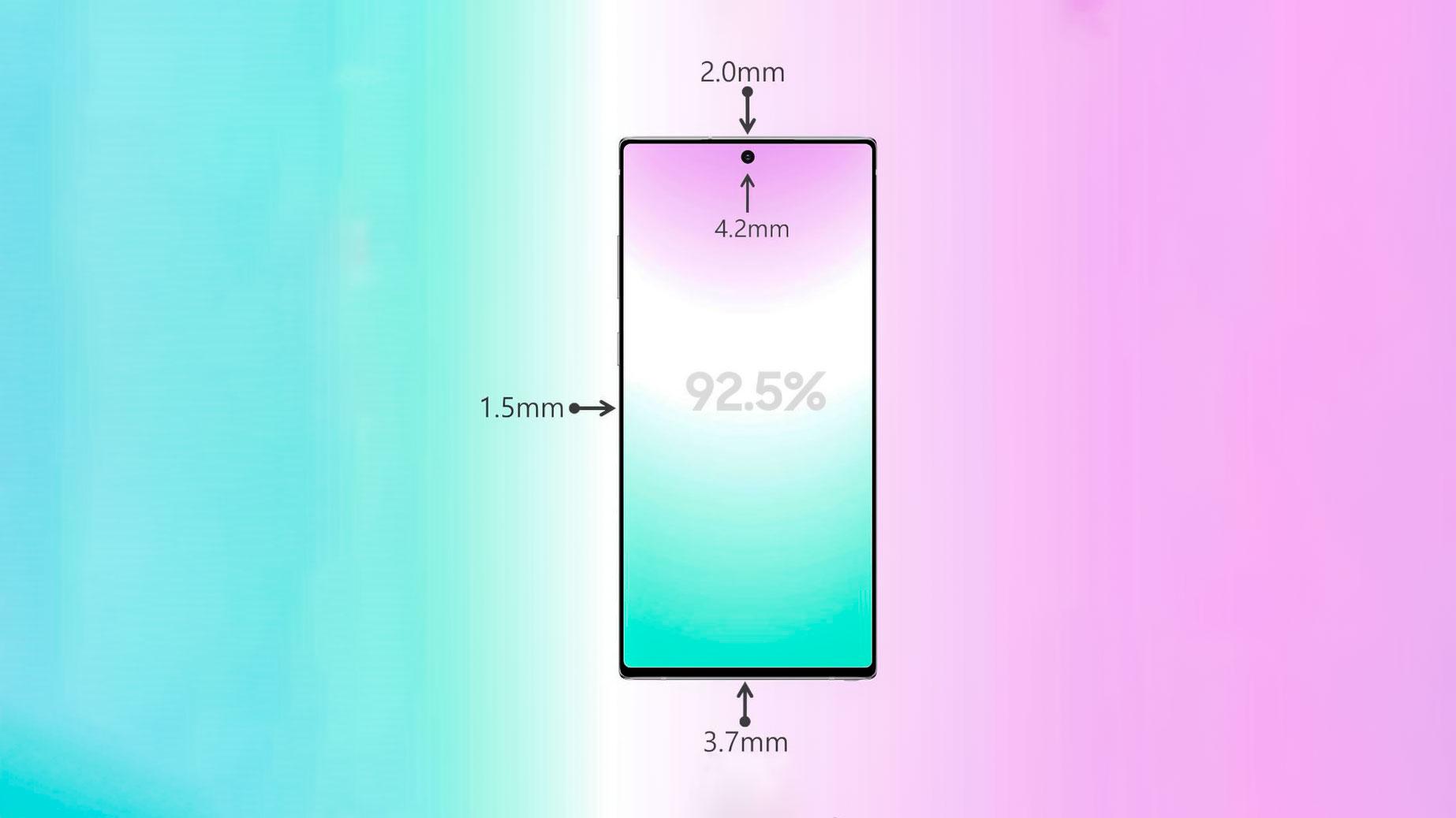 نسبت نمایشگر به بدنه گلکسی نوت ۱۰ پلاس