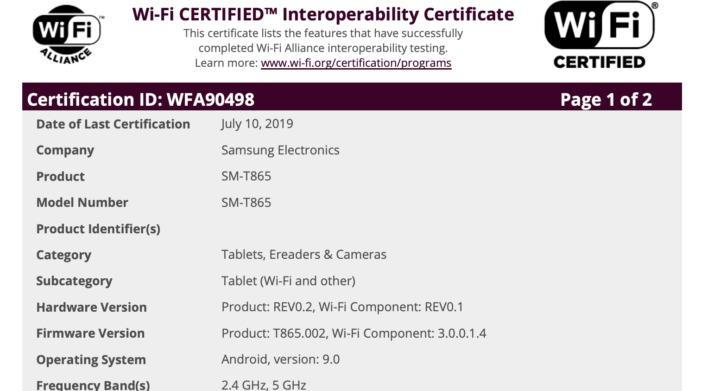 گلکسی تب اس ۶ (Galaxy Tab S6)