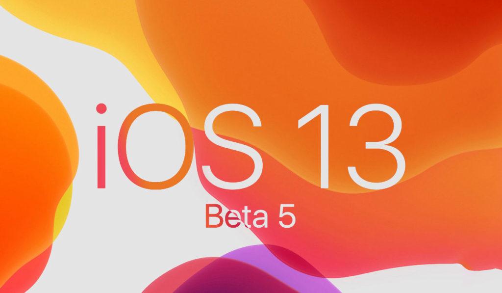 بتا ۵ سیستم عامل iOS 13 اپل