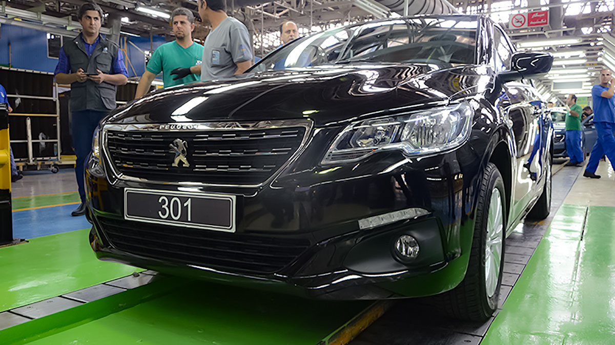 peugeot 301 17 - مشخصات تمام تیپ های پژو ۳۰۱ تولید ایران خودرو از دنده ای تا اتومات