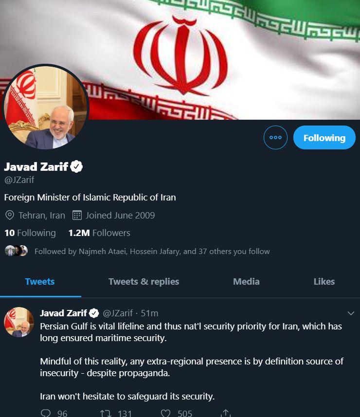 توییتر محمدجواد ظریف
