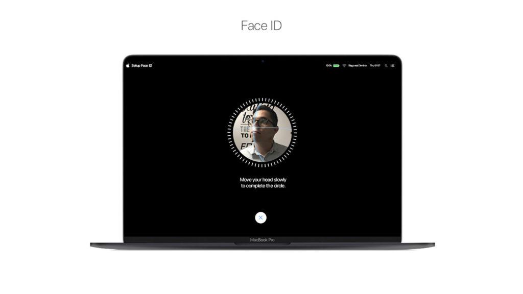 مک بوک Face ID