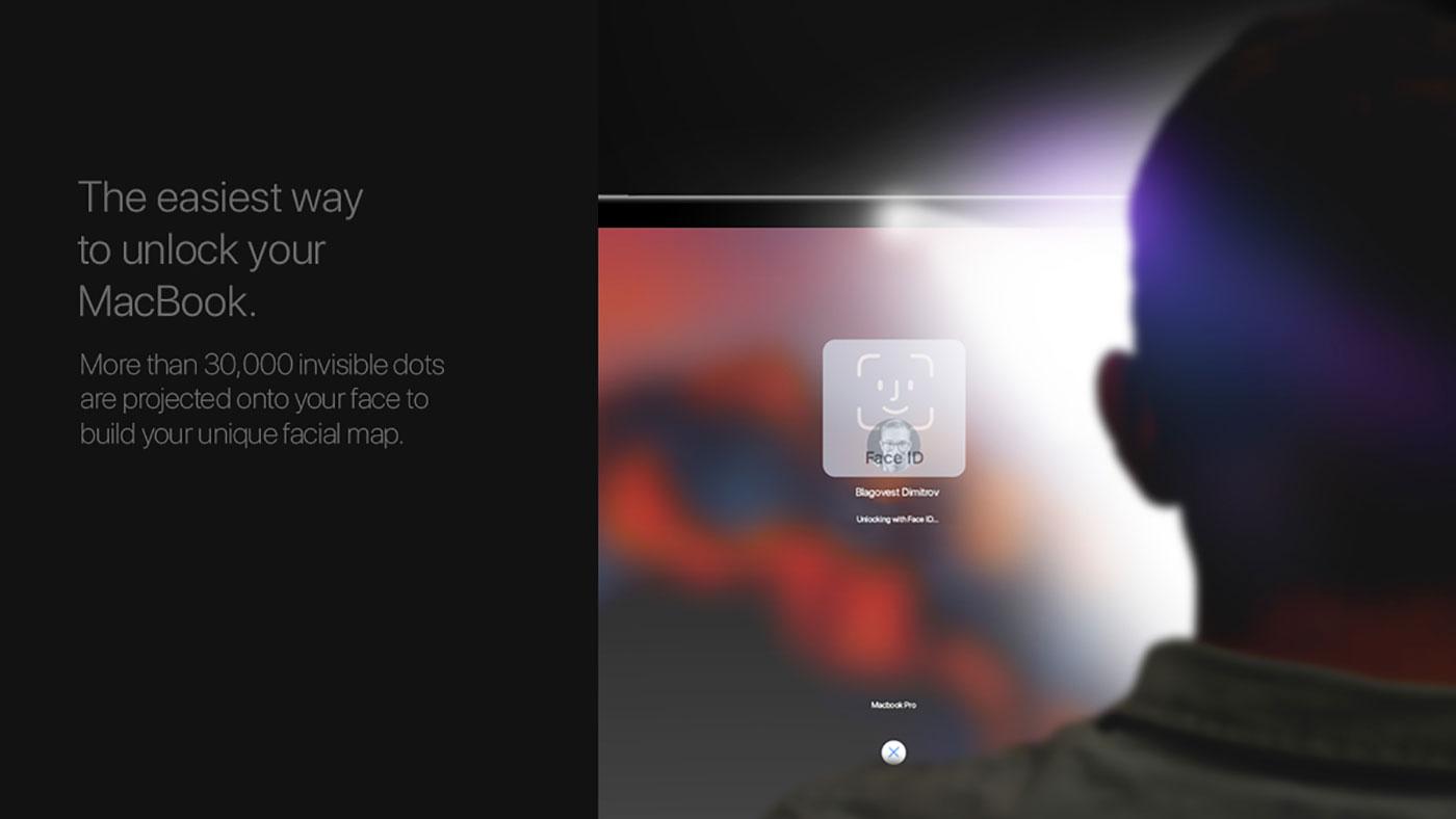 سیستم تشخیص چهره Face ID مک بوک ها در فکر اپل