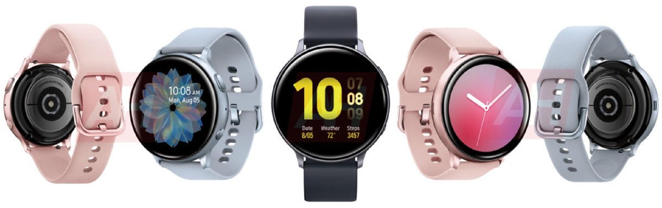 رندرهای ساعت هوشمند گلکسی واچ اکتیو سامسونگ را ببینید