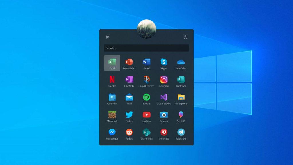 طراحی منو استارت ویندوز ۱۰ نسخه 20H1