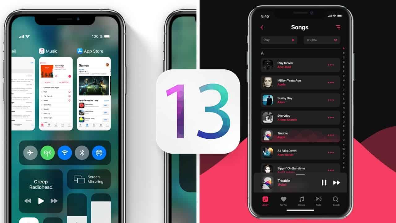 آپدیت iOS 13