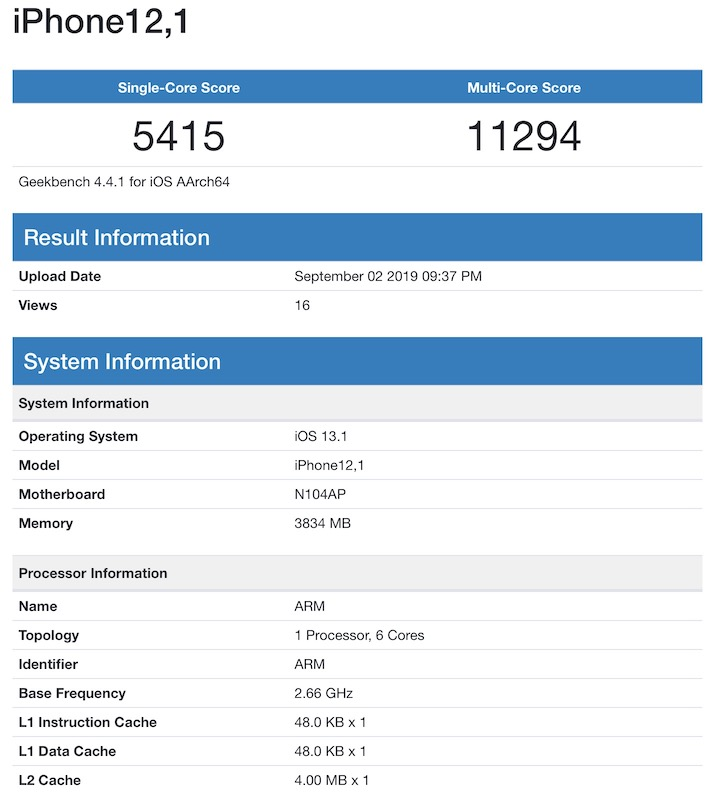 بنچمارک آیفون ۱۱ (iPhone 11)