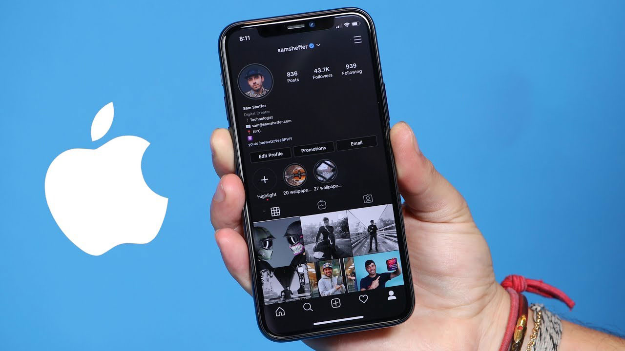 تم تاریک اینستاگرام آیفون با iOS 13 ممکن شد