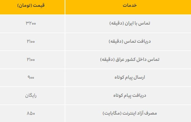 هزینه تماس ایرانسل اربعین ۹۸