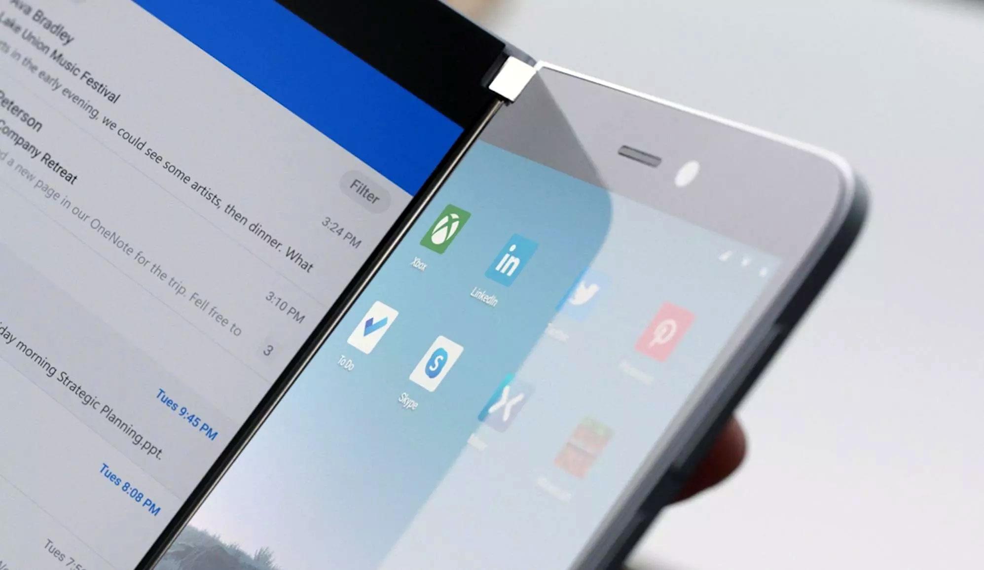 دوربین تبلت تاشو مایکروسافت سرفیس دو (Surface Duo) قرار است در کلاس حرفه ای باشد