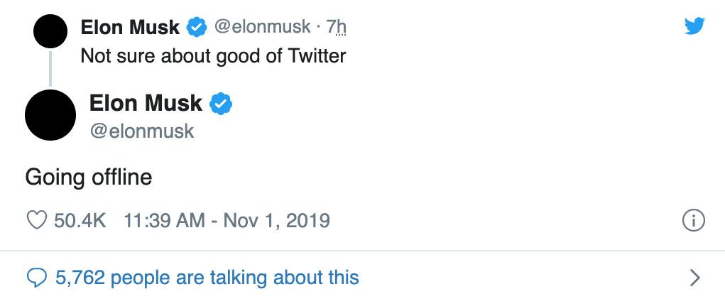 خداحافظی ایلان ماسک از توییتر