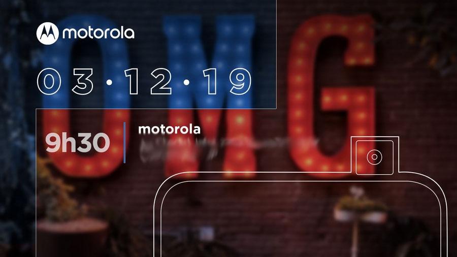 موتورولا وان هایپر با دوربین سلفی پاپ آپ ۱۲ آذر در برزیل رونمایی می شود