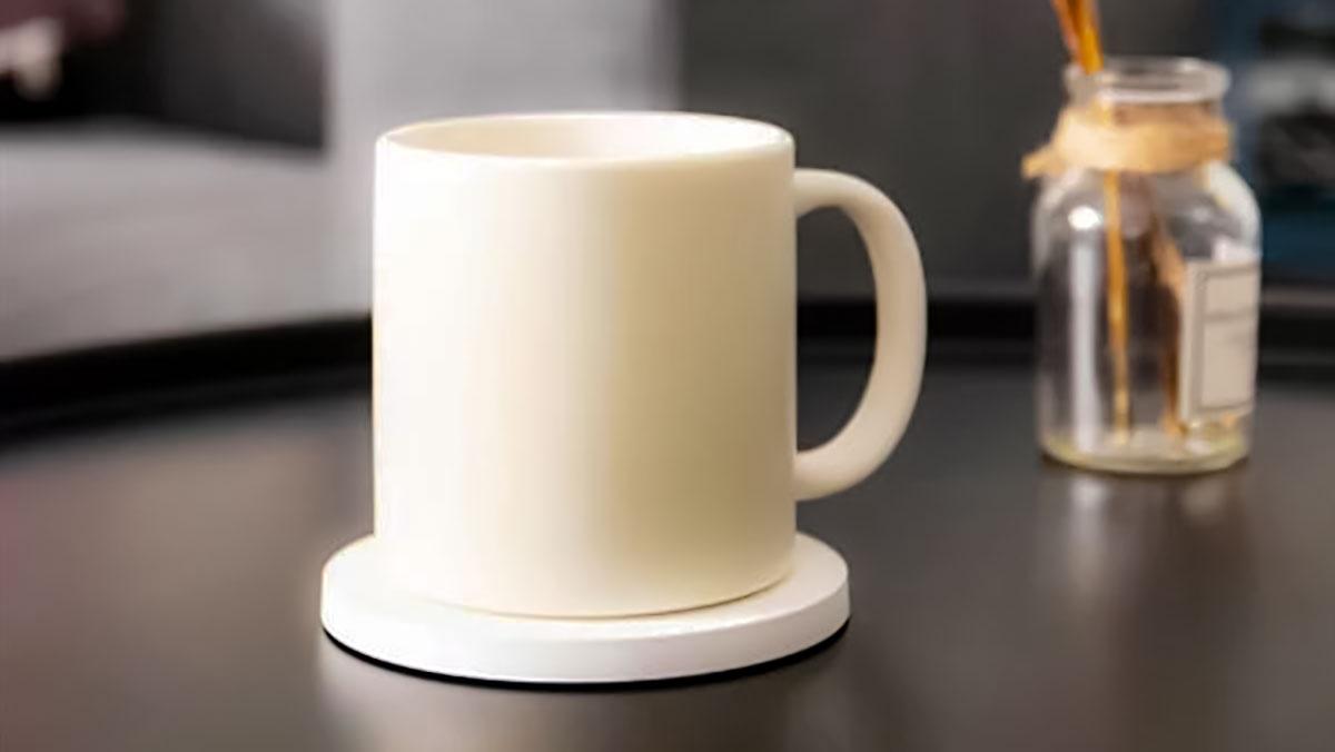 شارژر وایرلس شیائومی با قابلیت گرم کردن چایی