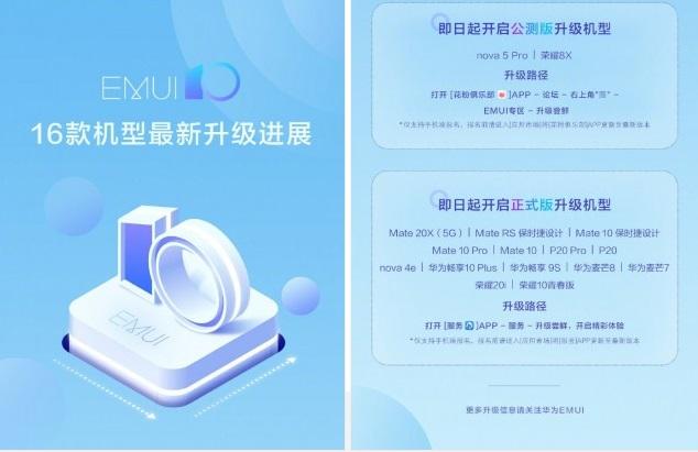 آپدیت رابط کاربری EMUI 10