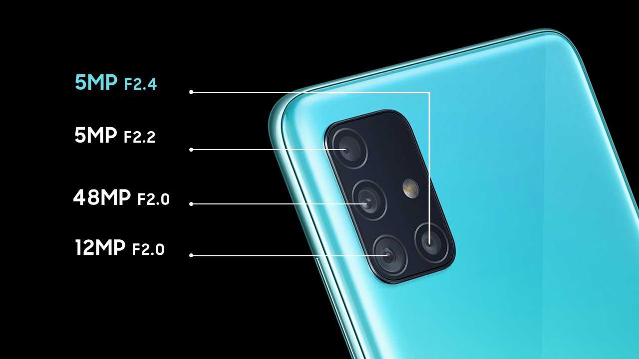 مشخصات، قیمت و خرید گوشی موبایل سامسونگ مدل Galaxy A51 ظرفیت 128 گیگابایت  رم 6