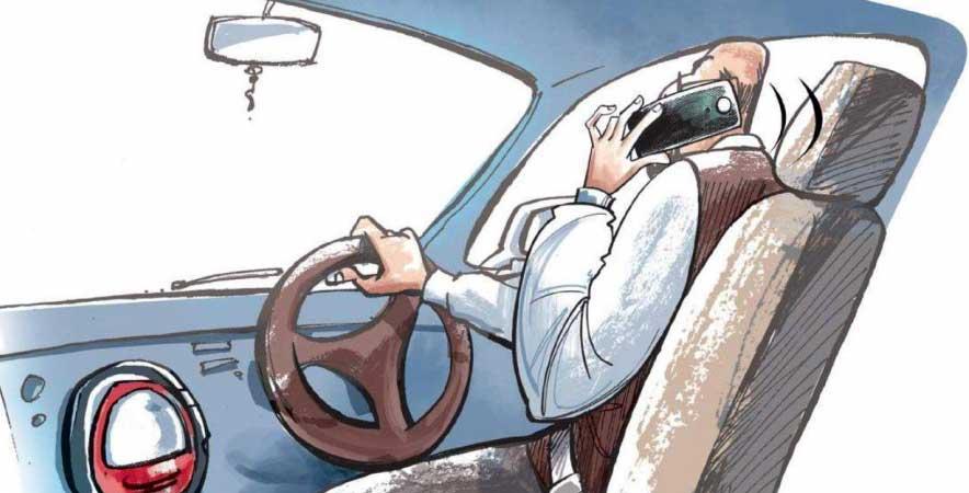 استفاده از موبایل در هنگام رانندگی
