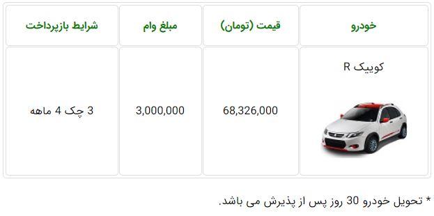 فروش فوری سایپا کوییک دورنگ سه شنبه ۱ بهمن ۹۸