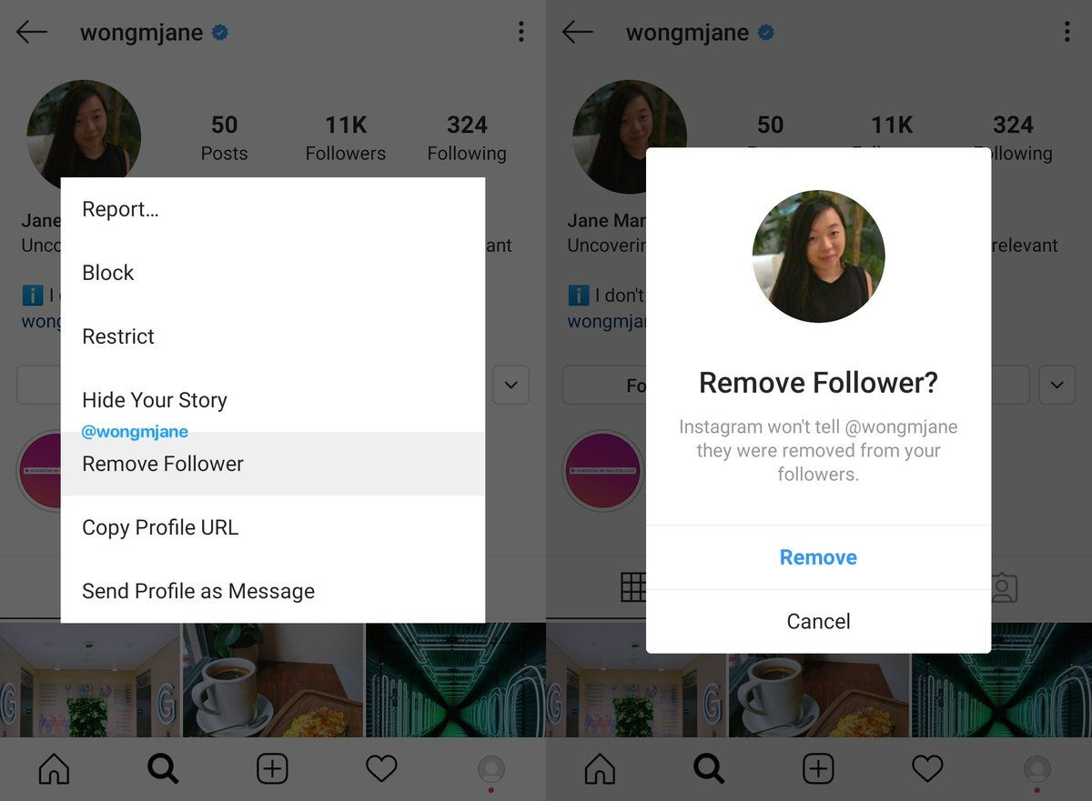 قابلیت حذف فالور اینستاگرام به صورت رسمی اضافه خواهد شد