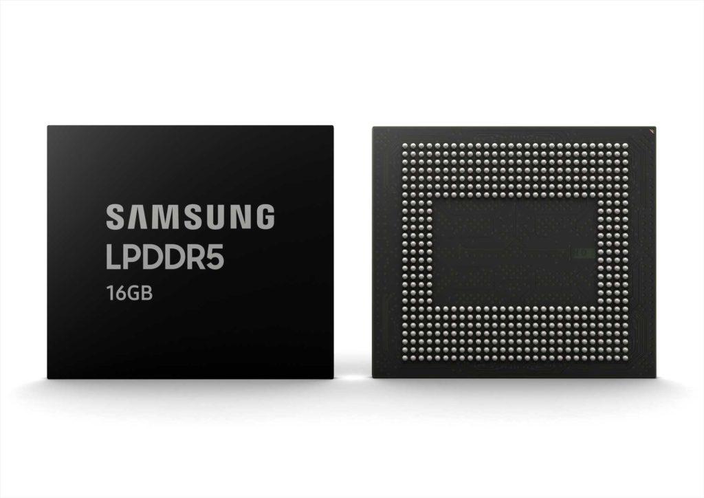 حافظه رم ۱۶ گیگابایت LPDDR5 سامسونگ برای موبایل