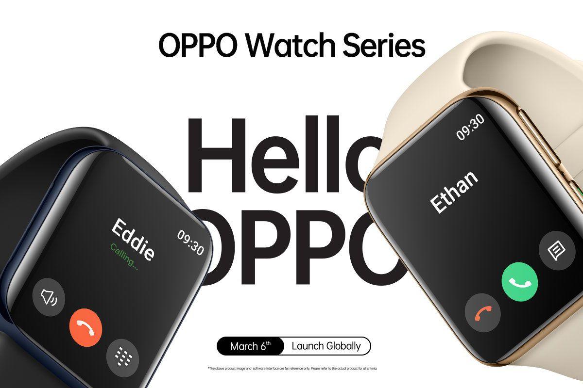 ساعت هوشمند اوپو واچ با قابلیت تماس و نمایشگر دو لبه خمیده دیده شد