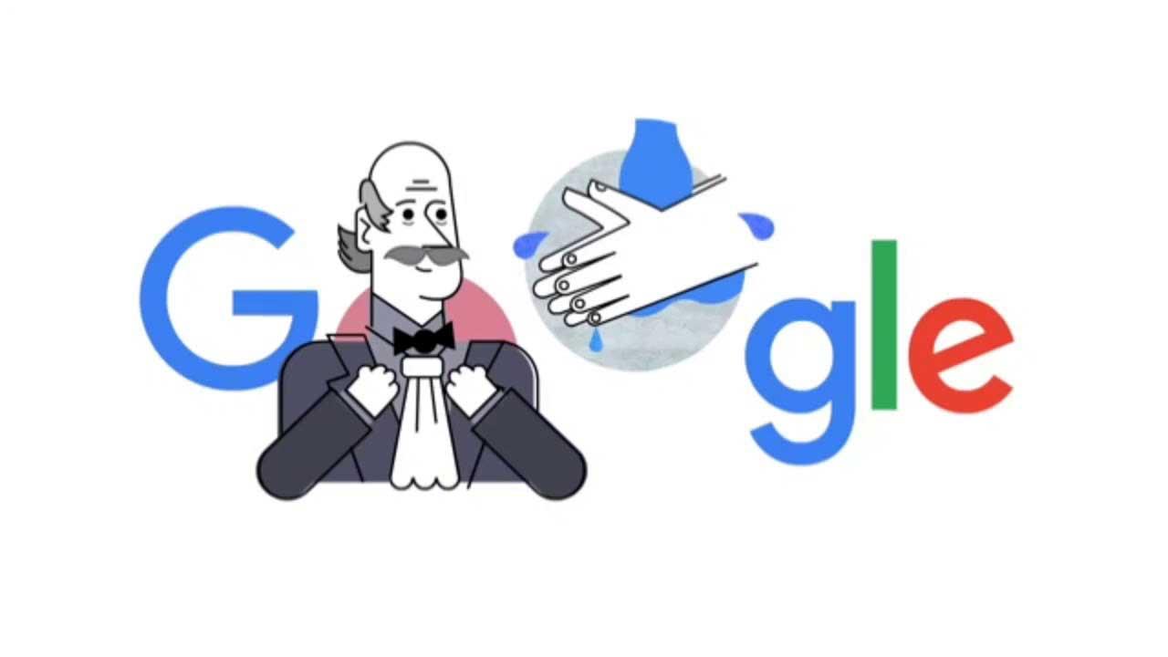 تغییر لوگو گوگل به دلیل کرونا و آموزش نحوه صحیح شستن دست ها