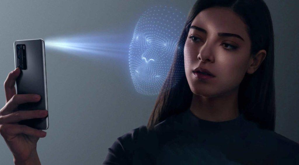 تشخیص چهره سه بعدی هواوی پی ۴۰ پرو