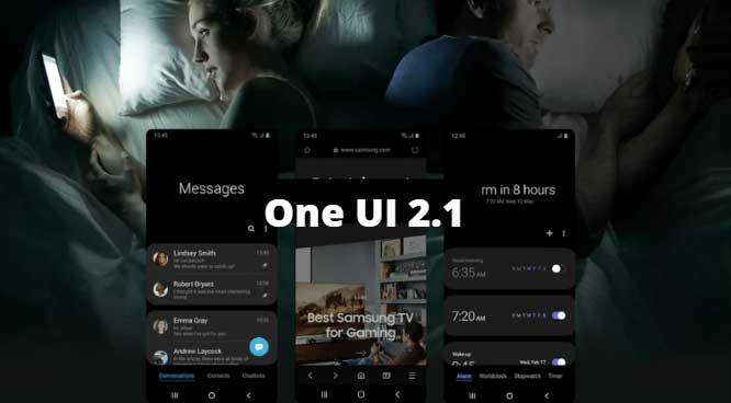 آپدیت رابط کاربری One UI 2.1 گلکسی اس ۱۰