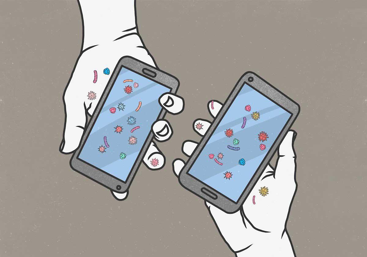 مدت زمان زنده ماندن ویروس روی نمایشگر موبایل