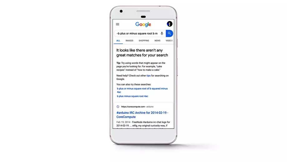 اگر نتایج جستجو در گوگل مناسب نباشد، این موتور جستجو خودش به شما اعلام می کند!