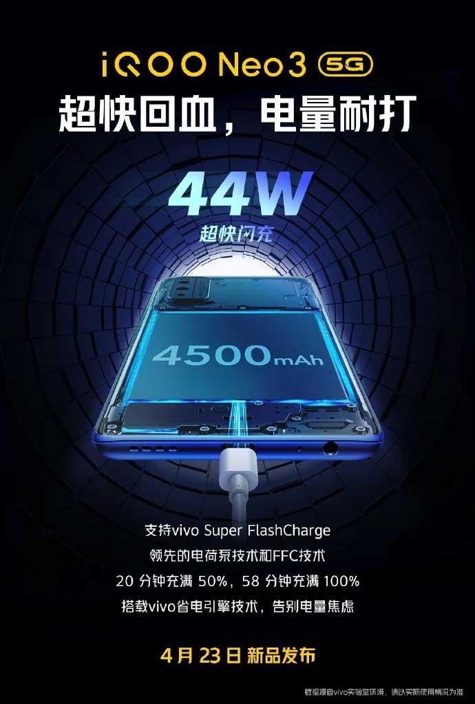 شارژر ۴۴ وات iQOO Neo3