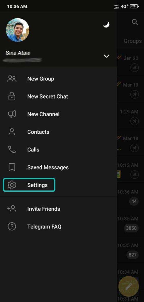 آموزش Chat Folder تلگرام
