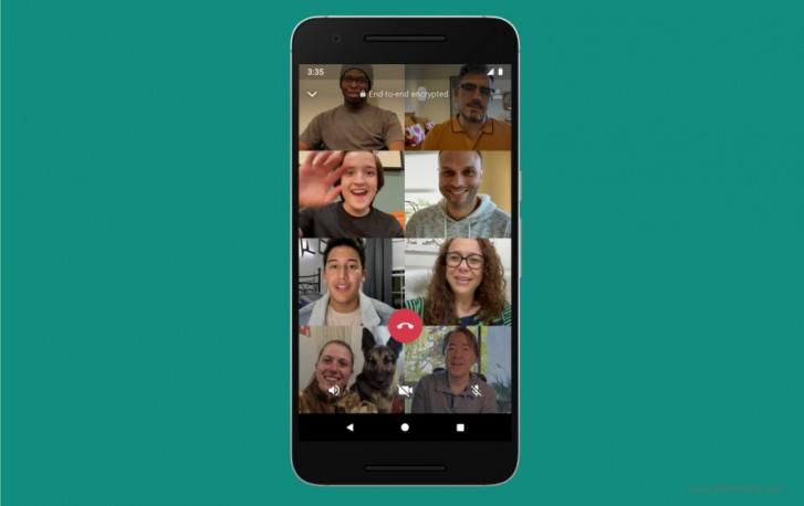 افزایش ظرفیت تماس ویدیویی واتس اپ به ۸ نفر