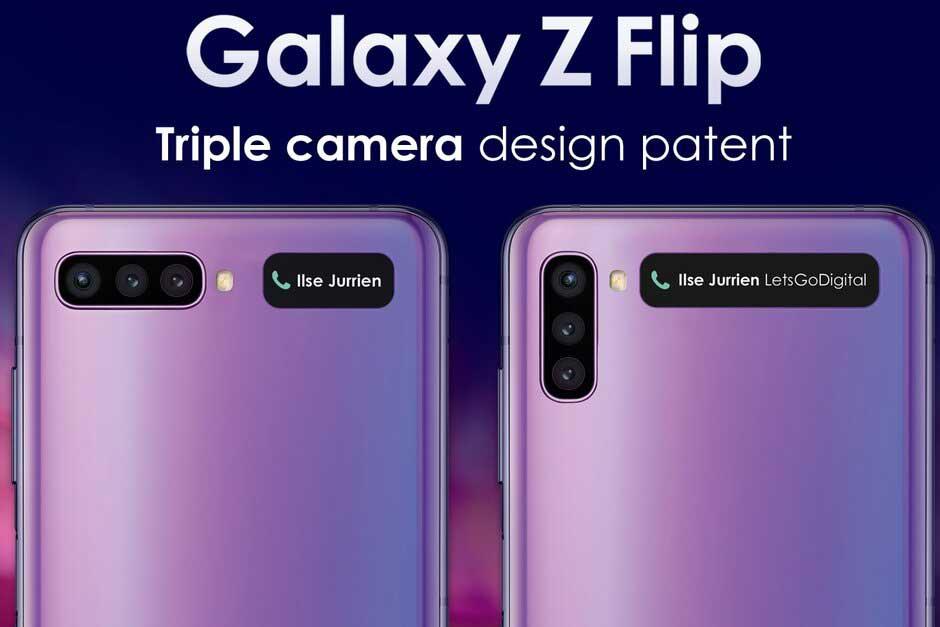 گلکسی زد فلیپ ۲ با دوربین سه گانه شاید این طراحی را داشته باشد